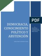Democracia, conocimiento político y abstención