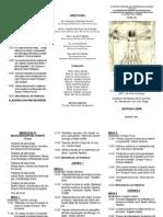 Tríptico SPI XVI Jornada Académica El Cuerpo Humano
