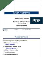comp422-2011-Lecture23-GraphAlgorithms