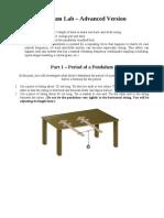 Pendulum Lab - Student Advanced Version