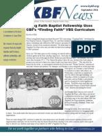 September 2011 KBF Newsletter