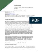 21st Century Philosophy (PHIL 3280) Course Outline