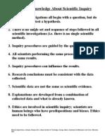 Scientific Inquiry Info Sheet