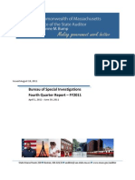 Bureau of Special Investigations Quarterly Report 81811