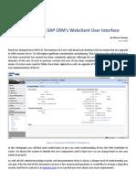 Understanding SAP CRM Webclient