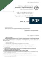 Ingles i. Programa Sintetico v5.1 Enero 2011