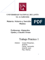 UNLa - Historia y Semiótica de los medios - TP1 - Peirce + Saussure