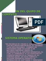 Operacion Del Quipo de Computo