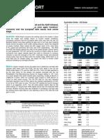 Australian Dollar Report 19 August 2011