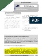 Resultado GEDPU Subjetiva - Rodada 2011.31 (Ata)