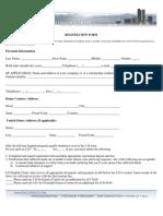 International Application Form New Header 2011
