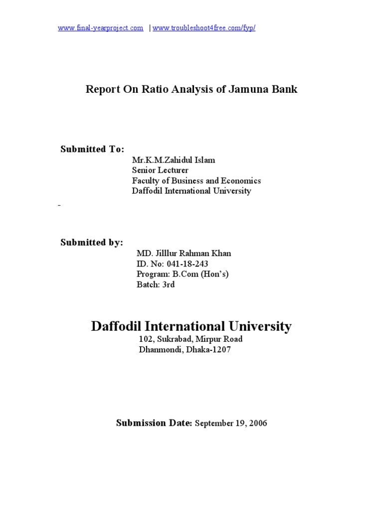 ratio analysis of dhaka bank bd ltd Pioneer in technical analysis of bangladesh informed that bangladesh bank through its brpd circular a long term investor at dhaka stock exchange.