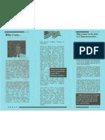 2002 - Campaign Brochure - Reverse