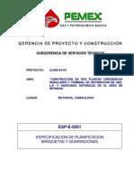 Esp-e-9201 Normas Para Banquetas y Guarniciones