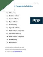 List of Companies in Pakistan