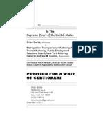 PetitionforWritofCertiorariBurkevMTAetc