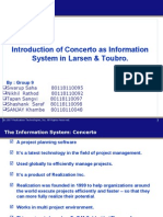 Introduction of Concerto as Information System in Larsen & Toubro