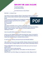 Biography of Anna Hazare