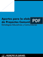 Aportes para la elaboración de proyectos comunitarios