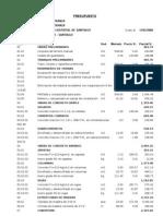 presupuesto maestranza
