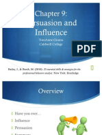 Chap 9 Persuasion and Influence