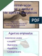 Administración espinal y epidural de agentes anestésicos