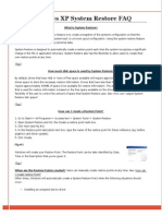 XP System Restore FAQ