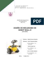 Diseño de mecanismo de robot wall-e