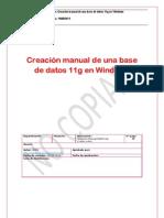 Oracle - Creación MANUAL de una base de datos 11g en Windows