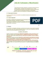 Determinación de Carbonatos y Bicarbonatos TP