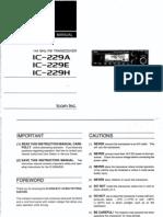 IC-229H Instruction Manual