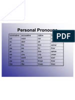 Deutsch Personal Pronouns