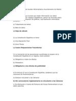 Examen Tipo 1 de Auxiliar Administrativo Ayuntamiento de Madrid