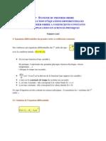 Resolution Equation Differentielle 1er Ordre