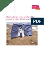 Humanitarian Response for Older People in Haiti