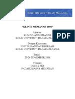 Kertas Kerja Contoh KLINIK MEMANAH 2006