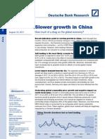 China Growth Slowdown