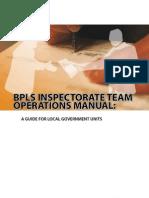 BPLS Inspectorate Team Operations Manual 2009