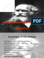 Maxwell's Eqautions and some applications