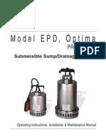 Manual EPD Optima IOM Sp