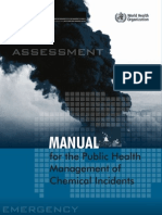 WHO Public Health Management of Chemical Incidents