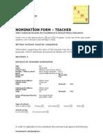gayes nomination form