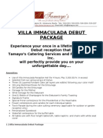 Villa Immaculada Debut