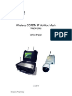 White Paper on COFDM IP Ad-hoc Mesh Surveillance Video Networks