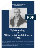 KRUG Wilhelm Traugott. Epistemology of Military Art and Sciences 1815