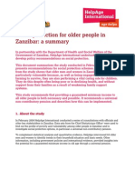 Social protection for older people in Zanzibar