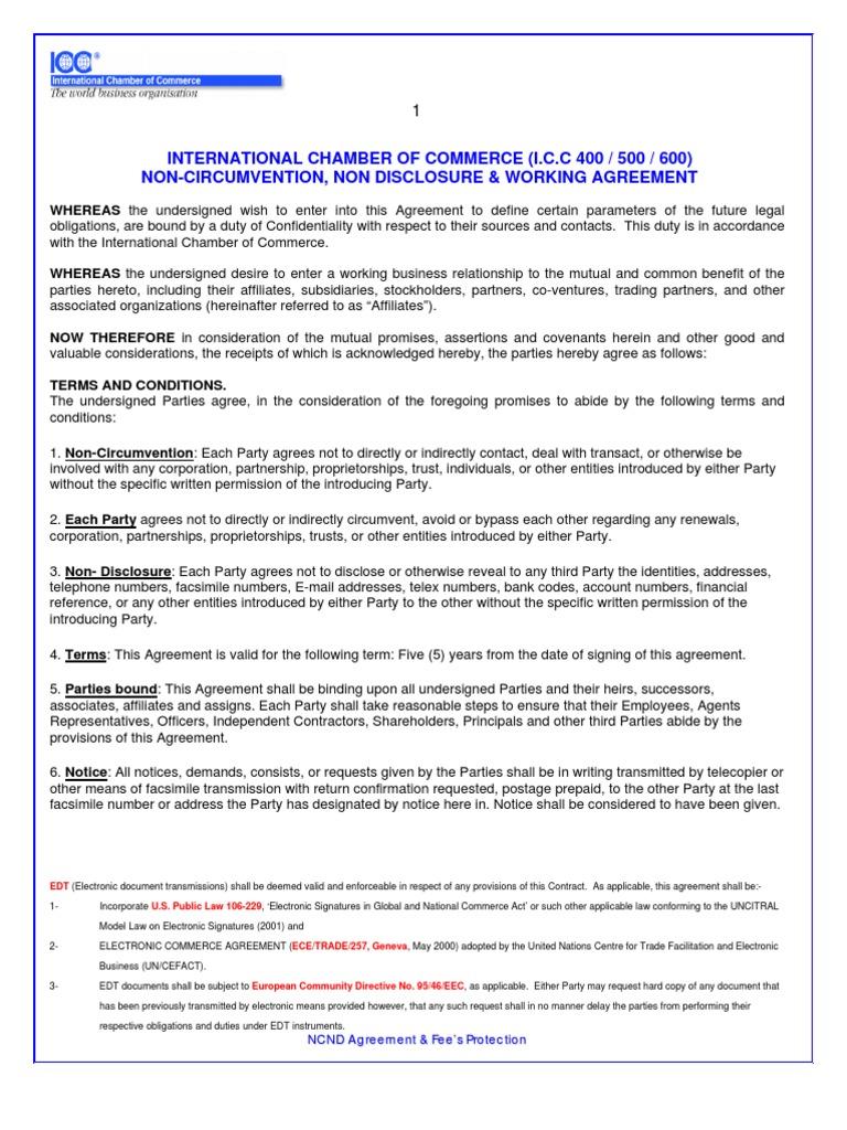 ICC NCND International | Arbitration | Signature
