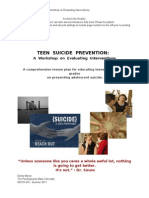 Teen Suicide Prevention