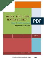 Media plan for Hondo Neo