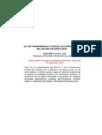 Ley de Transparencia (última reforma - 17 de septiembre de 2012)
